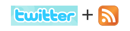 twitter and rss logos